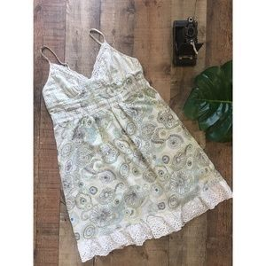 Anthropologie Eloise Eyelet Floral Chemise Dress